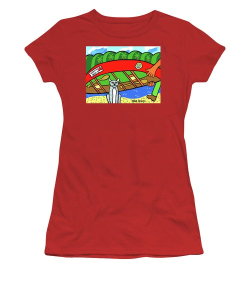 I Love My Canoe Women's T-Shirt (Athletic Fit)