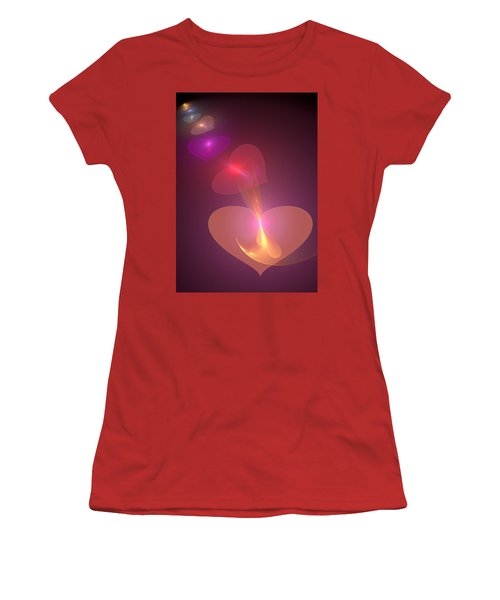 Women's T-Shirt (Junior Cut) featuring the digital art Infinite Love by Svetlana Nikolova