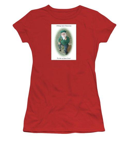 Irish Santa Card Women's T-Shirt (Athletic Fit)