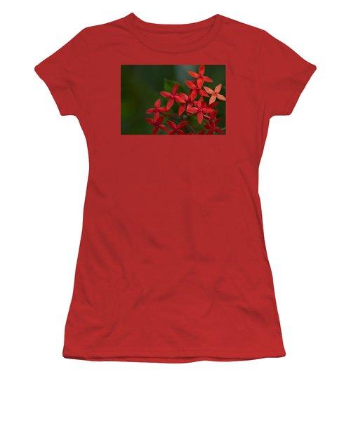 Jungle Geranium Women's T-Shirt (Junior Cut) by Marlo Horne