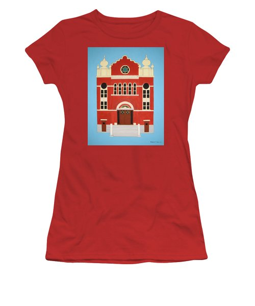 Women's T-Shirt (Junior Cut) featuring the painting King Edward Street Shul by Stephanie Moore