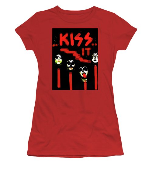 Kiss It  Women's T-Shirt (Athletic Fit)