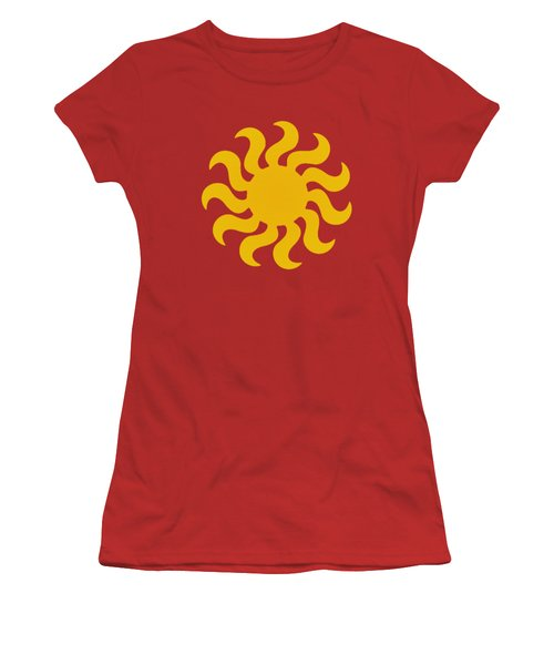 Knitted Sun Women's T-Shirt (Junior Cut) by Anton Kalinichev