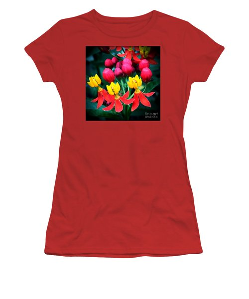 Women's T-Shirt (Junior Cut) featuring the photograph Ladies In Waiting by Vonda Lawson-Rosa