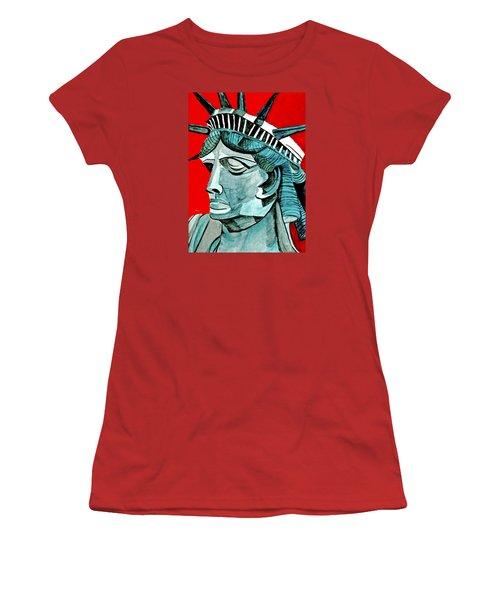 Lady Liberty Women's T-Shirt (Junior Cut) by Anna Porter