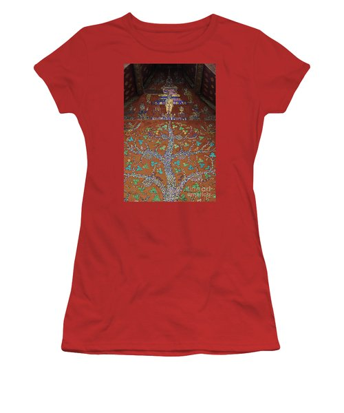 Laos_d92 Women's T-Shirt (Junior Cut) by Craig Lovell