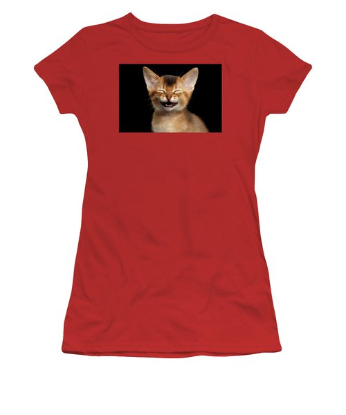 Laughing Kitten  Women's T-Shirt (Athletic Fit)