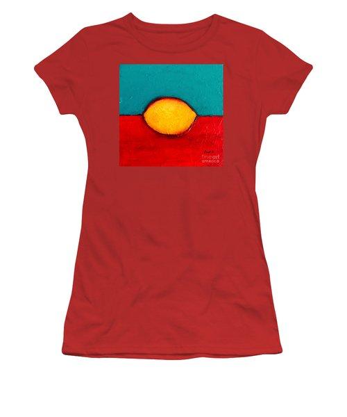 Women's T-Shirt (Junior Cut) featuring the photograph Lemon by Fred Wilson