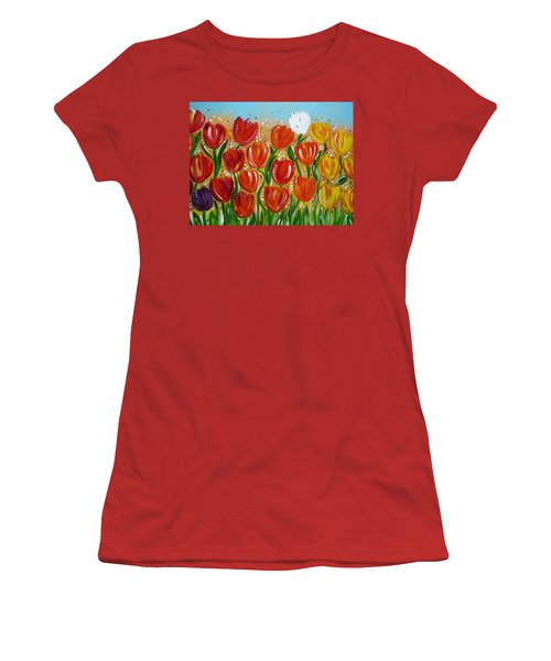 Les Tulipes - The Tulips Women's T-Shirt (Junior Cut) by Gioia Albano