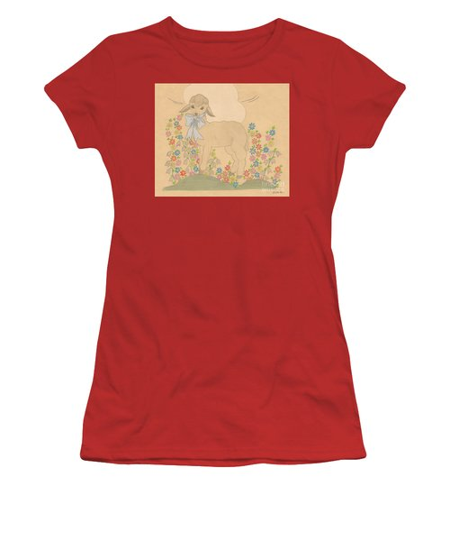 Little Lamb Women's T-Shirt (Athletic Fit)