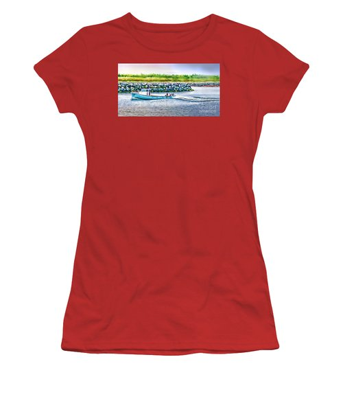 Women's T-Shirt (Junior Cut) featuring the photograph Lobster Fishing Day's End by Patricia L Davidson