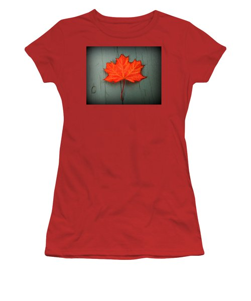 Lone Leaf Women's T-Shirt (Athletic Fit)