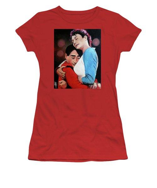 Long Duck Dong And Sexy American Girlfriend Women's T-Shirt (Junior Cut) by Tom Carlton