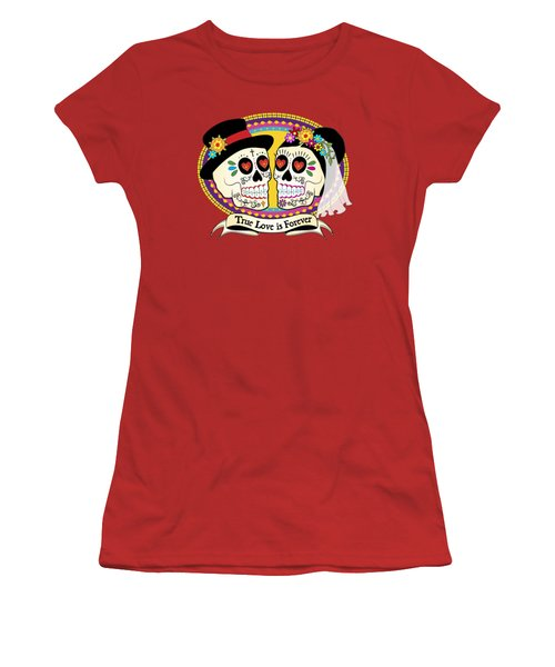 Los Novios Sugar Skulls Women's T-Shirt (Athletic Fit)