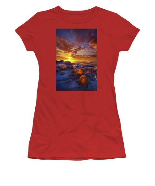 Women's T-Shirt (Junior Cut) featuring the photograph Lost Titles, Forgotten Rhymes by Phil Koch
