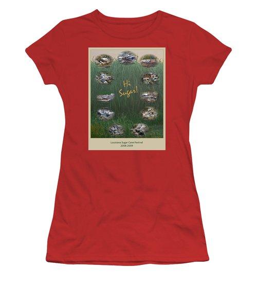 Louisiana Sugar Cane Poster 2008-2009 Women's T-Shirt (Junior Cut) by Ronald Olivier