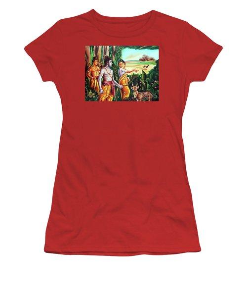 Love And Valour- Ramayana- The Divine Saga Women's T-Shirt (Junior Cut) by Ragunath Venkatraman