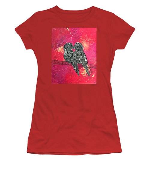 Love Birds Women's T-Shirt (Athletic Fit)