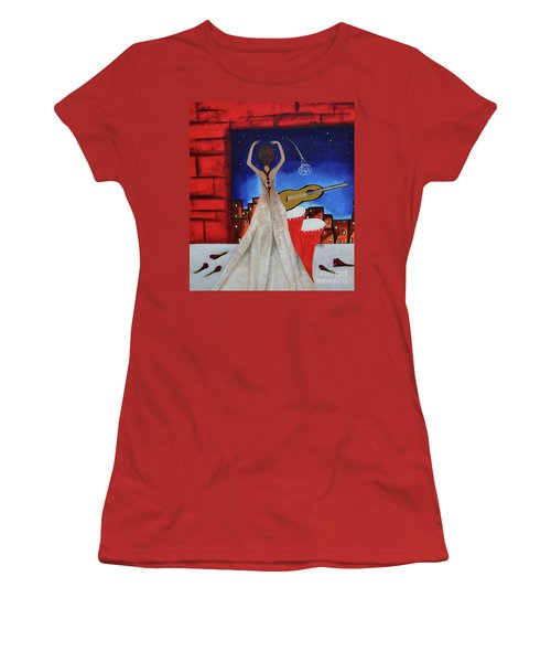 Love To Dance 002 By Saribelle Rodriguez Women's T-Shirt (Athletic Fit)