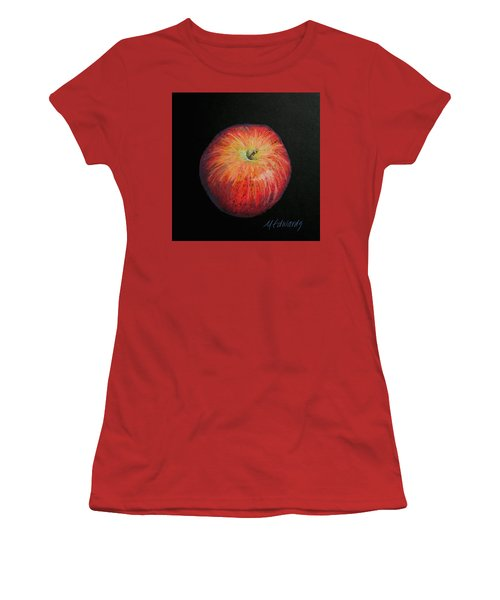 Lunch Apple Women's T-Shirt (Junior Cut) by Marna Edwards Flavell
