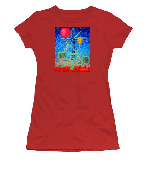 Women's T-Shirt (Junior Cut) featuring the painting L.v P. by Viktor Lazarev