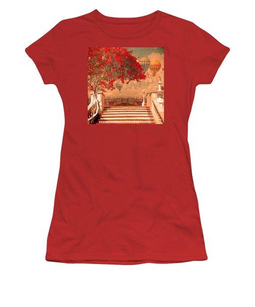 Magical Kindom Women's T-Shirt (Junior Cut) by Jeff Burgess