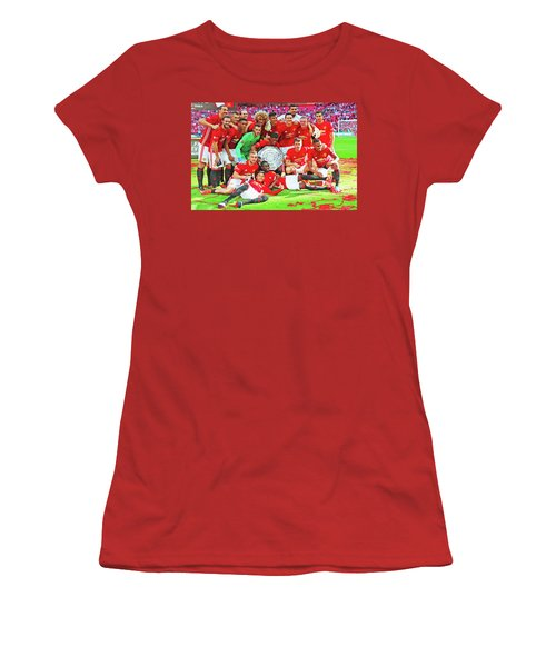 Manchester United Celebrates Women's T-Shirt (Junior Cut) by Don Kuing
