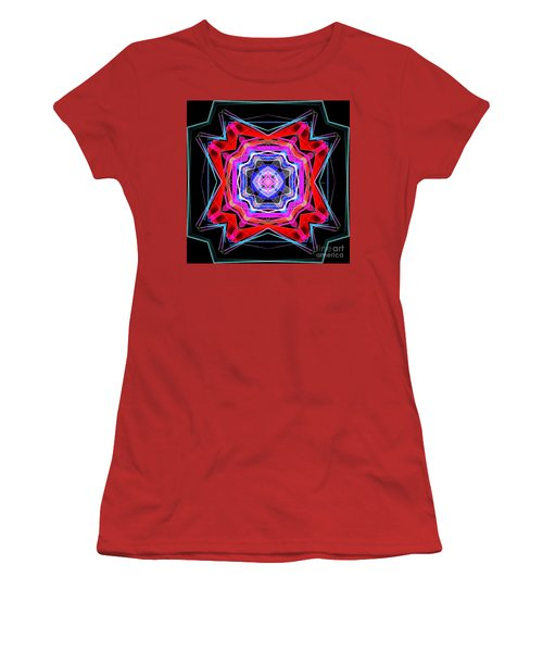 Women's T-Shirt (Athletic Fit) featuring the digital art Mandala 3325 by Rafael Salazar