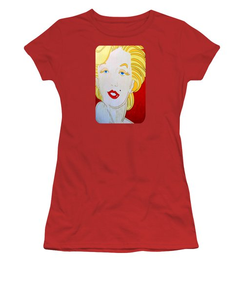 Women's T-Shirt (Junior Cut) featuring the photograph Marilyn by Ethna Gillespie
