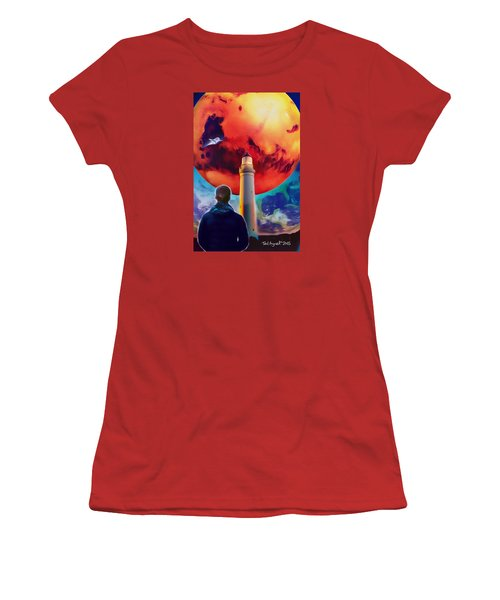 Mars Dreamer Women's T-Shirt (Junior Cut) by Ted Azriel
