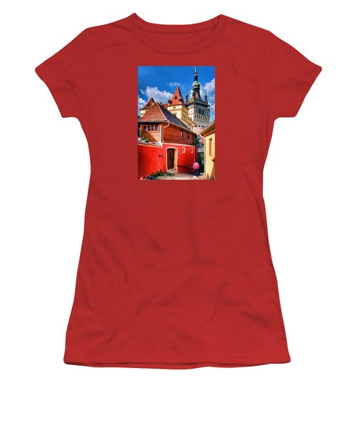 Medieval Sighisoara Women's T-Shirt (Athletic Fit)