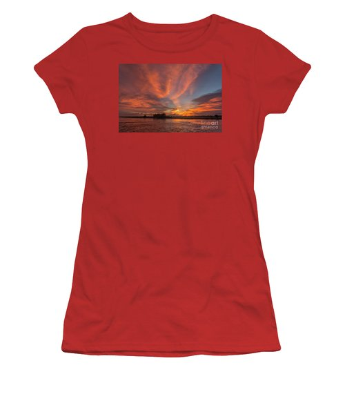Women's T-Shirt (Junior Cut) featuring the photograph Mekong Sunset 3 by Werner Padarin