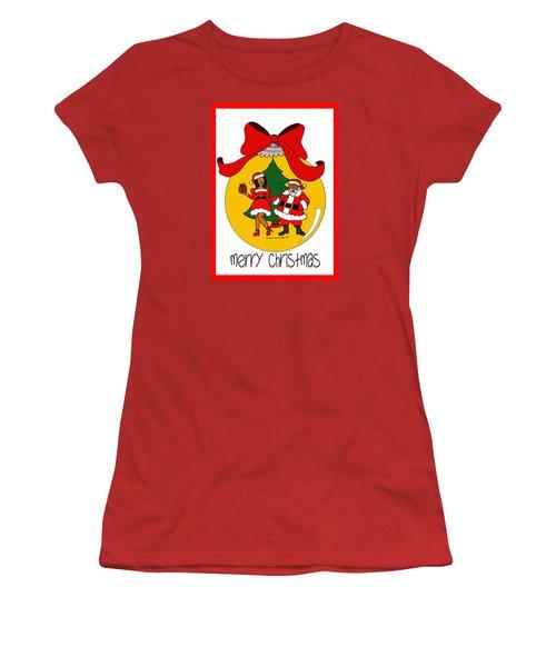 Merry Christmas Women's T-Shirt (Junior Cut) by Diamin Nicole