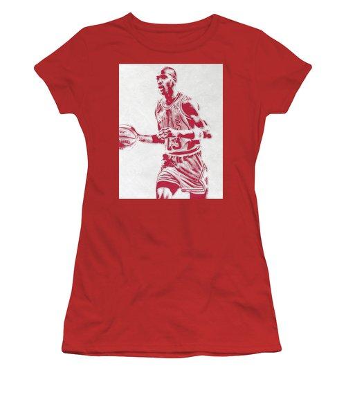 Michael Jordan Chicago Bulls Pixel Art 2 Women's T-Shirt (Athletic Fit)
