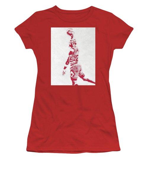 Michael Jordan Chicago Bulls Pixel Art 3 Women's T-Shirt (Athletic Fit)
