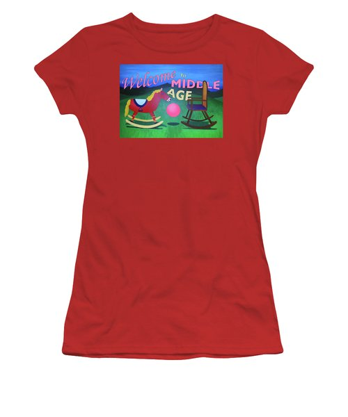Middle Age Birthday Card Women's T-Shirt (Athletic Fit)