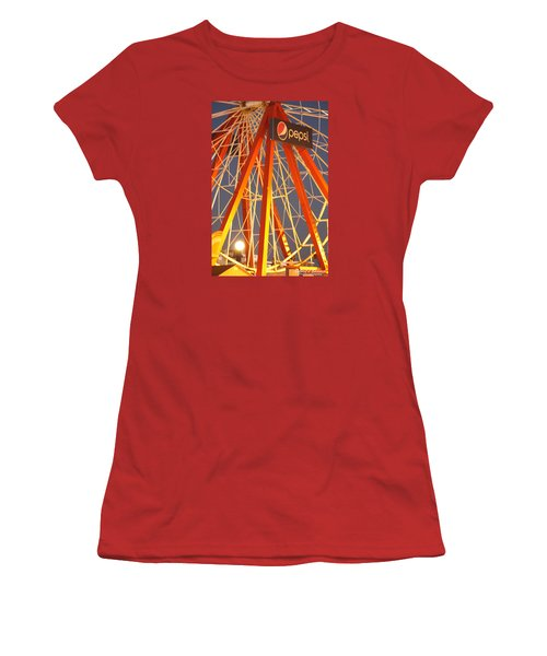 Moon And The Ferris Wheel Women's T-Shirt (Junior Cut) by Robert Banach
