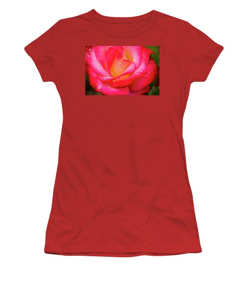 Morning Rose For You Women's T-Shirt (Junior Cut) by Ken Stanback