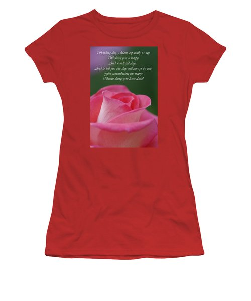 Women's T-Shirt (Junior Cut) featuring the photograph Mother's Day Card 3 by Michael Cummings
