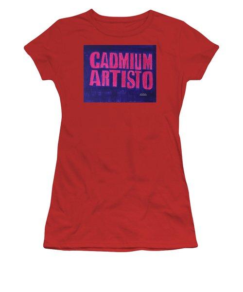 Movie Logo Cadmium Artisto Women's T-Shirt (Junior Cut) by Joshua Maddison