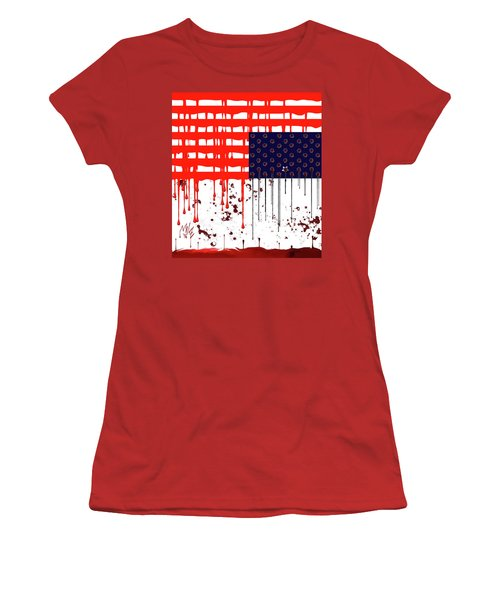 America In Distress Women's T-Shirt (Athletic Fit)