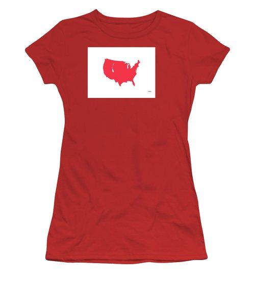 Women's T-Shirt (Junior Cut) featuring the digital art Music Notes 5 by David Bridburg