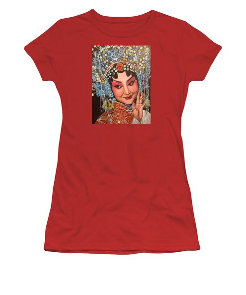 Women's T-Shirt (Junior Cut) featuring the painting My Fair Lady by Belinda Low