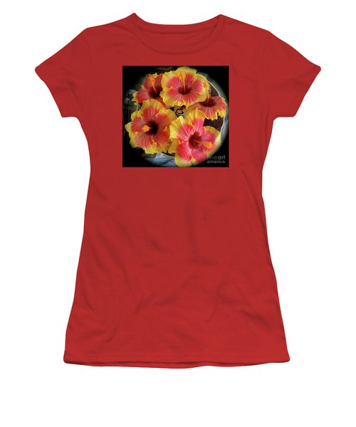 My Hibiscus Garden Women's T-Shirt (Athletic Fit)