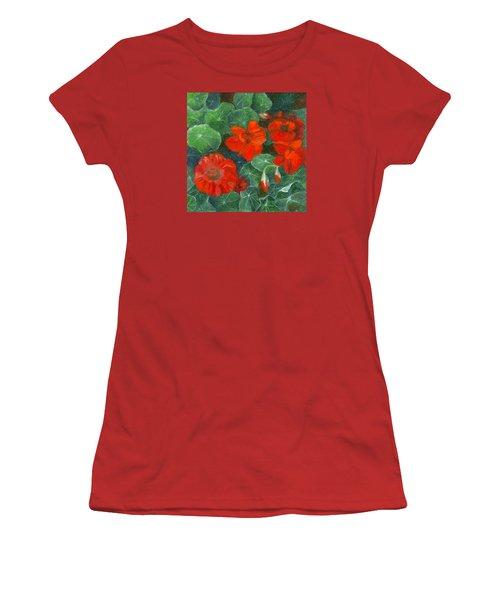 Nasturtiums Women's T-Shirt (Junior Cut) by FT McKinstry