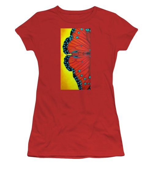 Women's T-Shirt (Junior Cut) featuring the painting New Beginnings by Susan DeLain