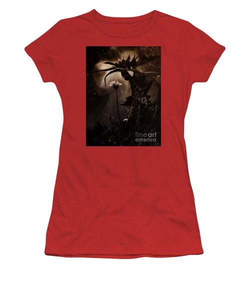 Women's T-Shirt (Junior Cut) featuring the painting Nightflower by Vanessa Palomino