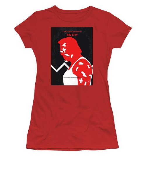 No304-1 My Sin City Minimal Movie Poster Women's T-Shirt (Athletic Fit)
