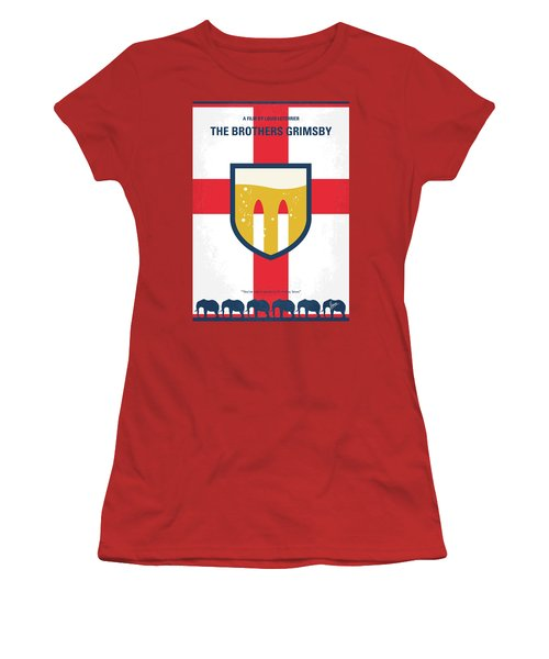Women's T-Shirt (Junior Cut) featuring the digital art No741 My Grimsby Minimal Movie Poster by Chungkong Art