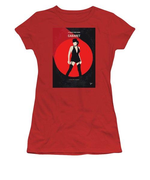 Women's T-Shirt (Junior Cut) featuring the digital art No742 My Cabaret Minimal Movie Poster by Chungkong Art